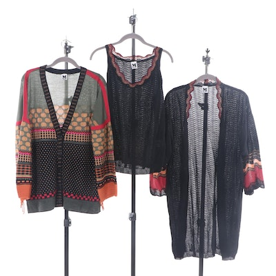 Missoni Wool Blend Knit Cardigans and Sleeveless Top