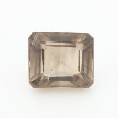 Loose 14.71 CT Smoky Quartz Gemstone