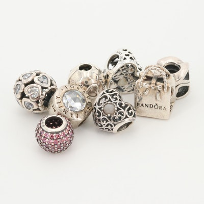 Sterling Silver Charms Featuring Pandora, Chamille and Moonstone