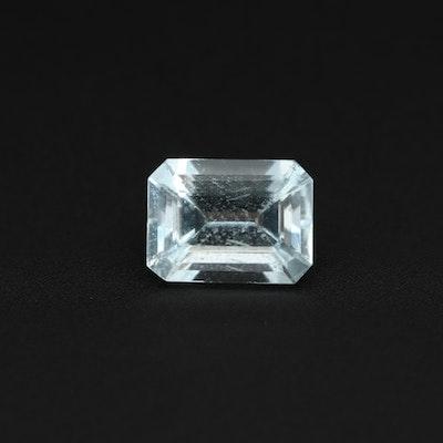 Loose 1.37 CT Aquamarine Gemstone