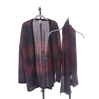 Missoni Knit Cardigan and Matching Scarf
