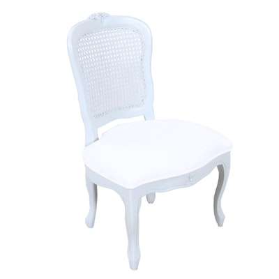 Upholstered Cane Back Child's Dining Chair