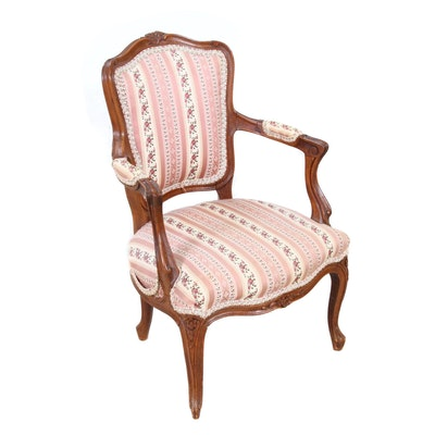 Louis XV Style Floral Motif Child's Armchair
