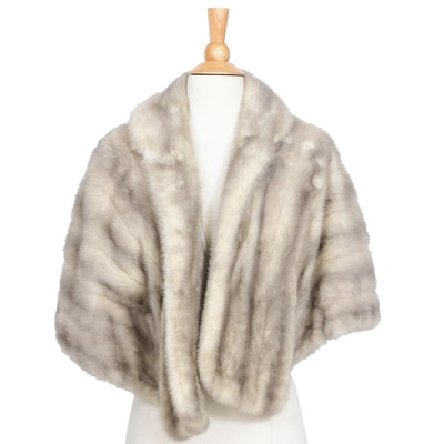 Grey Mink Stole from Adorne Furs of Phoenix, 1960s Vintage