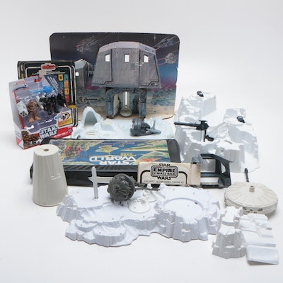 "Kenner ""Star Wars"" Hoth Playsets, Figurine Backing and Non-Kenner Action Figures"