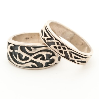 Sterling Silver Engraved Rings