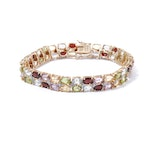 Sterling Silver and Colored Gemstone Bracelet