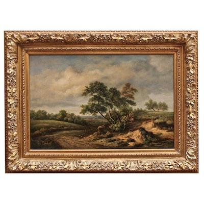 Sanders Landscape Oil Painting