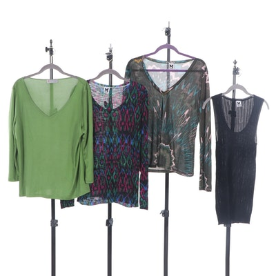 Missoni Silk and Viscose Knit Shirts and Tank