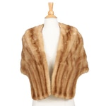 Pastel Mink Fur Stole from Lowenthal's, Mid-20th Century