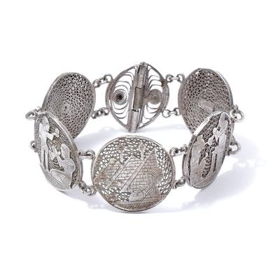 Egyptian Sterling Silver Bracelet