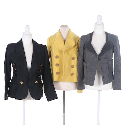 Yves Saint Laurent, J. Crew and Carven Jackets and Blazers
