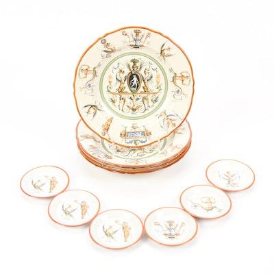 Hand-Painted Italian Porcelain Dinnerware, Mid-Century