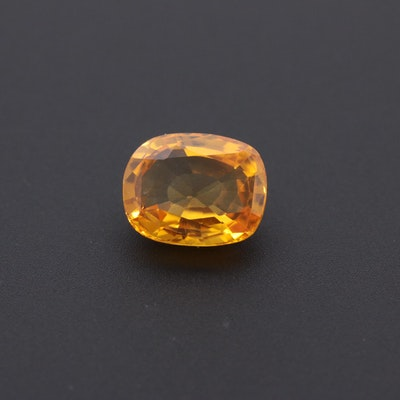 Loose 1.86 CT Yellow Sapphire Gemstone