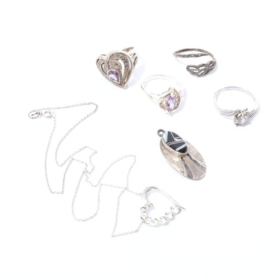 Sterling Silver Rings, Necklaces and Pendants