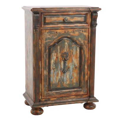 Hooker Furniture Distressed-Painted Finish Wooden Cabinet
