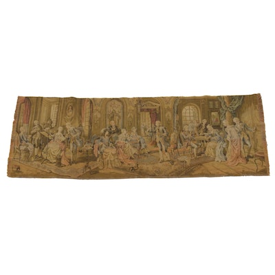 Belgian Wall Hanging of 18th Century Aristocrats