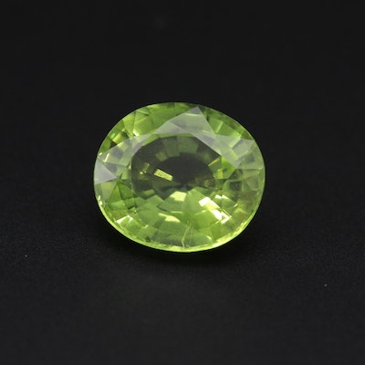Loose 6.64 CT Peridot Gemstone