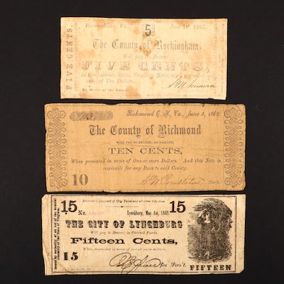 1862 Virginia Obsolete Currency Notes