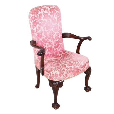 Georgian Style Mahogany Arm Chair, Circa 1920s