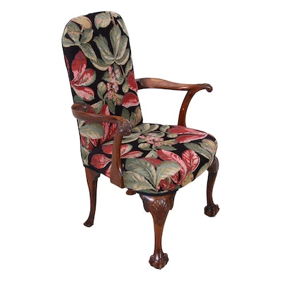 Georgian Style Mahogany Arm Chair, Circa 1920s