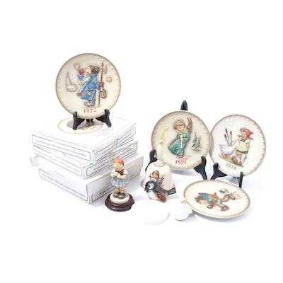 Goebel Hummel Ceramic Collector Plates, Figurines and Bells, Vintage