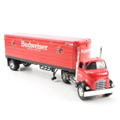 Budweiser Diecast Semi Truck and Trailer By Ertl Collectibles