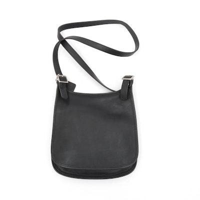 Coach Black Leather Hippie Slim Crossbody Saddle Bag