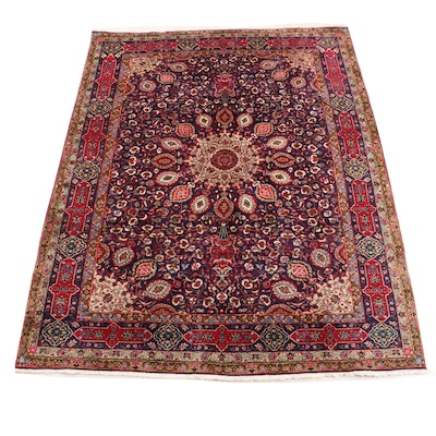 Hand-Knotted Persian Indo-Persian Kashmir Wool Rug