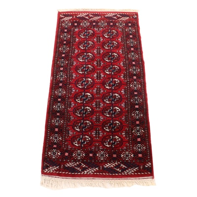 Hand-Knotted Persian Turkoman Bokhara Wool Rug