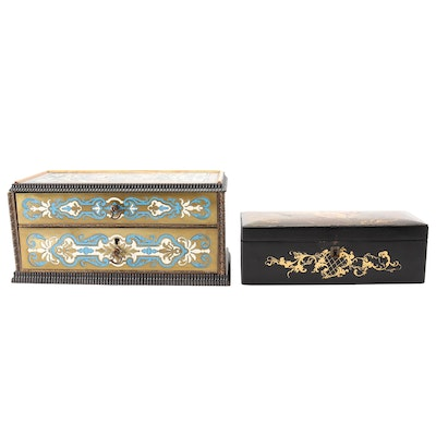 Hand-Painted and Lacquerware Boxes, Antique
