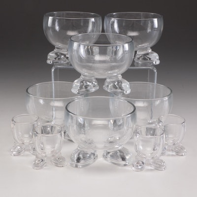 Arc International Glass Cereal Bowls and Egg Cups with Feet