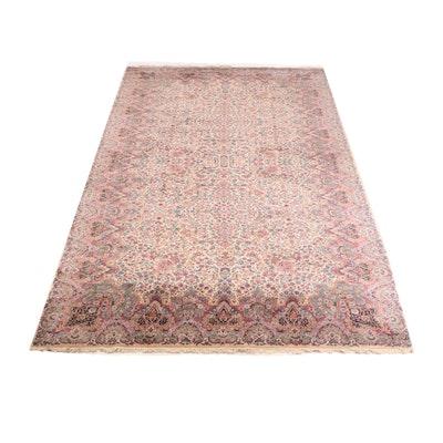 "Machine Made Karastan ""Kirman"" Room Sized Wool Rug"