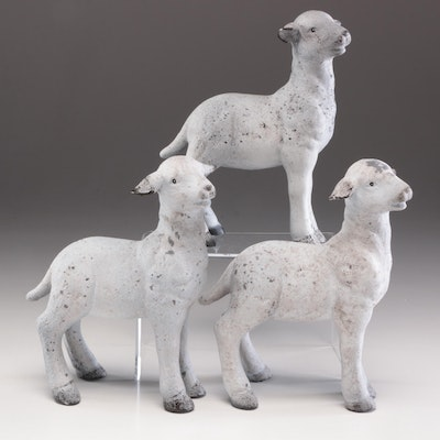 Ceramic Lamb Figurines