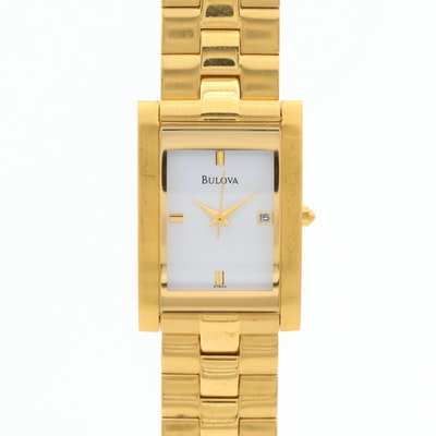 Bulova Gold Tone Stainless Steel Quartz Wristwatch