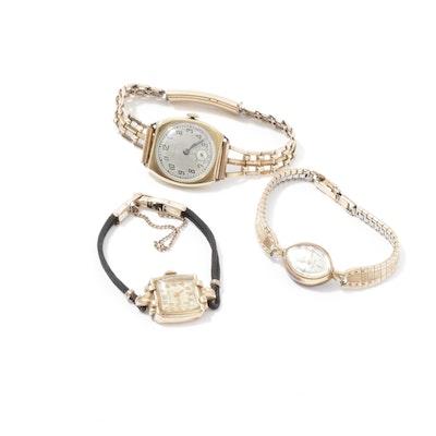 Vintage Jules Jurgensen, Gruen, and Longines Watches, Circa 1940s