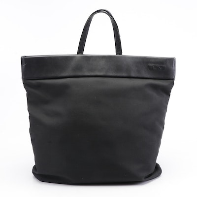 Tumi Black Nylon and Leather Tote