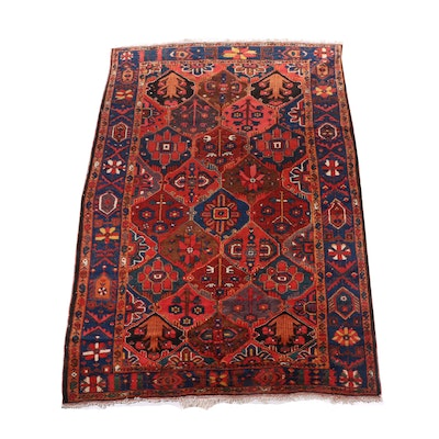 Hand-Knotted Bakhtiari Wool Room Sized Rug