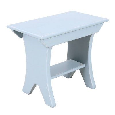 Transitional Style Painted Wooden Side Table, Mid to Late 20th Century