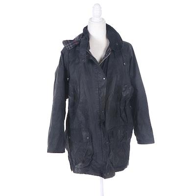 Burberry Waxed Cotton Raincoat with Hood