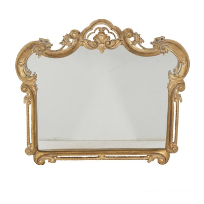 Gold Painted Baroque Style Wood Framed Mirror