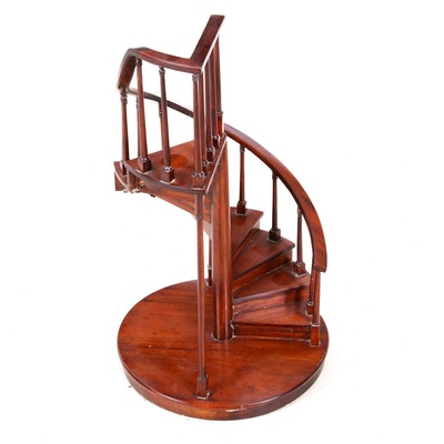 Wooden Spiral Staircase Display Stand