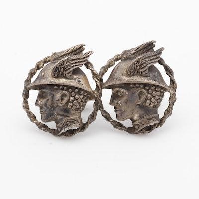Vintage Anson Sterling Silver Hermes Cufflinks