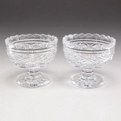 Waterford Crystal Pedestal Bowls, Pair
