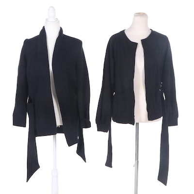 Fabiana Filippi and Other Cashmere and Cotton Blend Cardigans with Tie Sashes