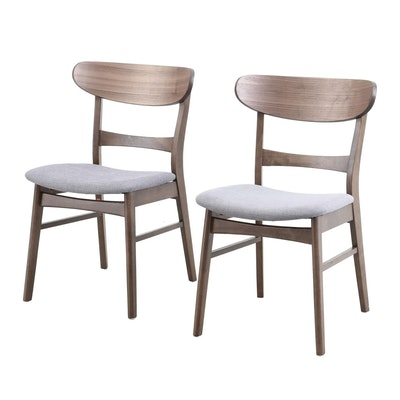 "Contemporary Noble House Home Furnishings ""Idalia"" Wood Dining Chairs"