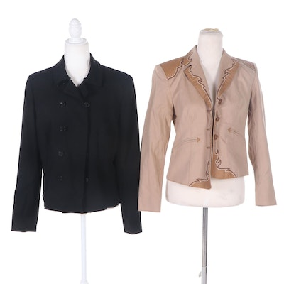 Lauren Ralph Lauren Double-Breasted and Pamela McCoy Western-Style Blazers