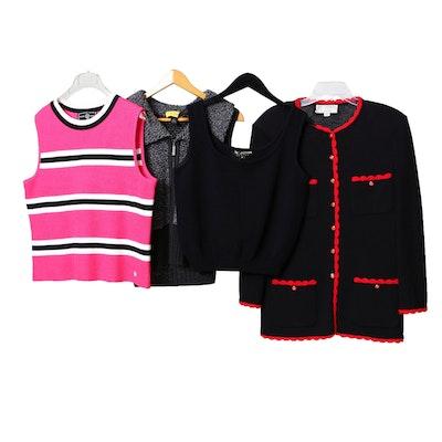 St. John Brand Sleeveless Tops and Jacket