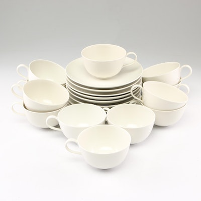 Eggshell Porcelain Saucers and Teacups