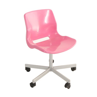 "Ikea, ""Snille"" Molded Plastic and Powder-Coated Steel Child's Swivel Desk Chair"